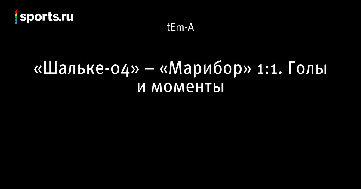 Марибор шальке 04