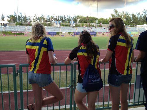 Девушки из сборной Оркни