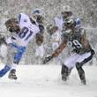 Фото дня. Американский футбол под снегом