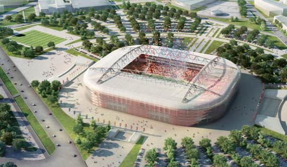 Новый стадион «Спартака» в Тушино, заявленная вместимость – 46 990