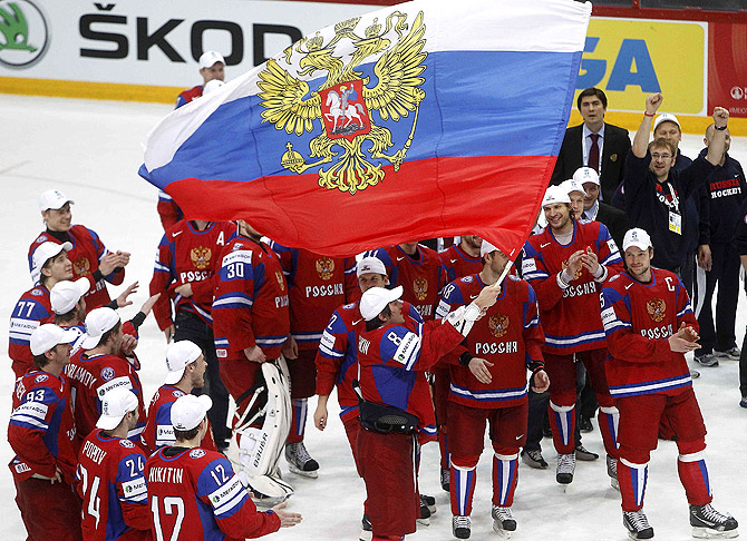 Россия разгромила Словакию в финале чемпионата мира по хоккею (Видео)