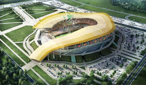 Стадион в Ростове-на-Дону, плановая вместимость – 43 703
