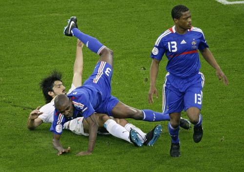 Эрик Абидаль, Дженнаро Гаттузо, Патрис Эвра, сборная Франции, сборная Италии, Евро-2008
