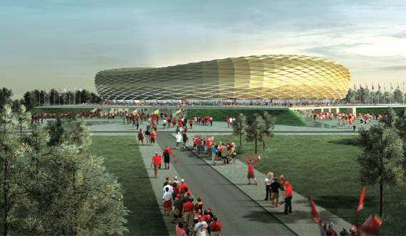 Стадион в Калининграде, плановая вместимость – 45 015