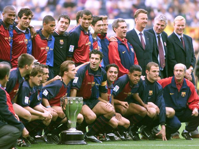Луи ван Гал, Барселона, Хави, Роналдо, примера Испания, Ривалдо