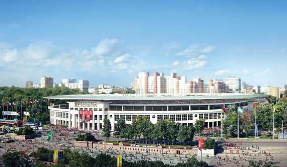 стадион «Динамо» в Москве, плановая вместимость – 44 920