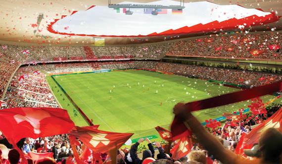 Арена в Саранске, вместимость – 45 015