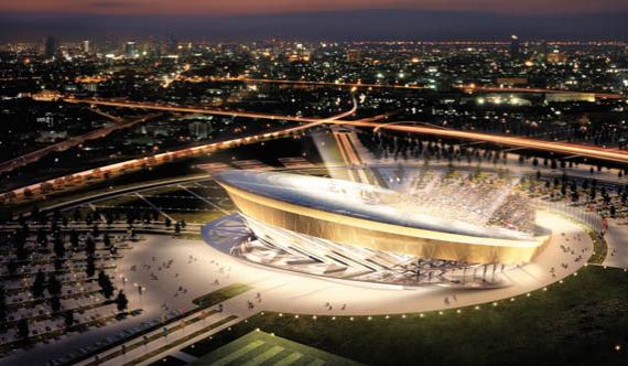 Макет стадиона в Московской области, пока может