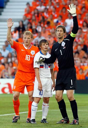 Андрей Аршавин, Эдвин ван дер Сар, Дирк Кюйт, сборная Голландии, сборная России, Евро-2008