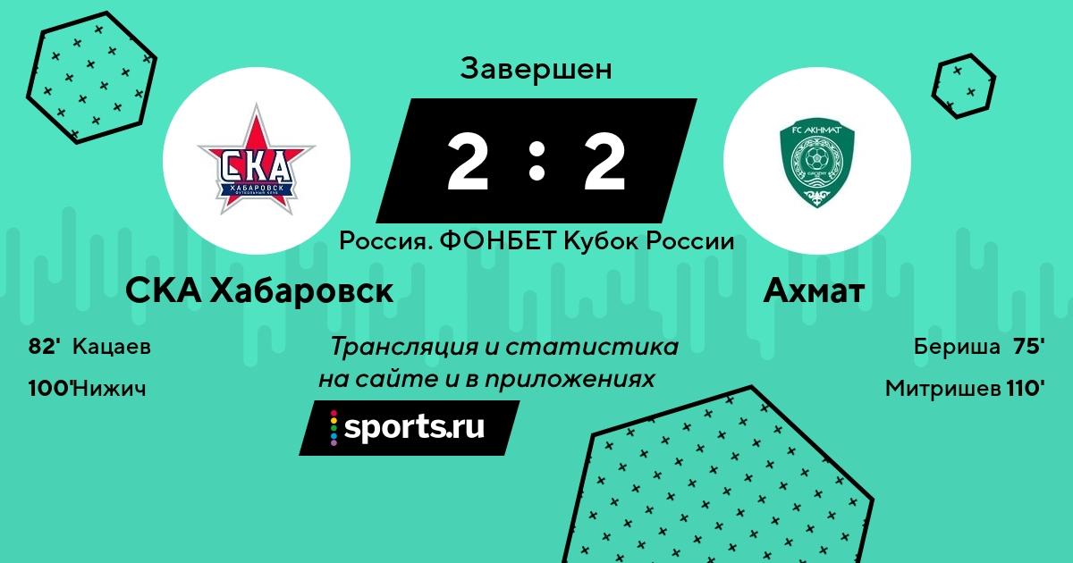 СКА-Хабаровск – Ахмат 25 сентября прямой эфир