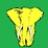 Жёлтый слон на зелёном поле