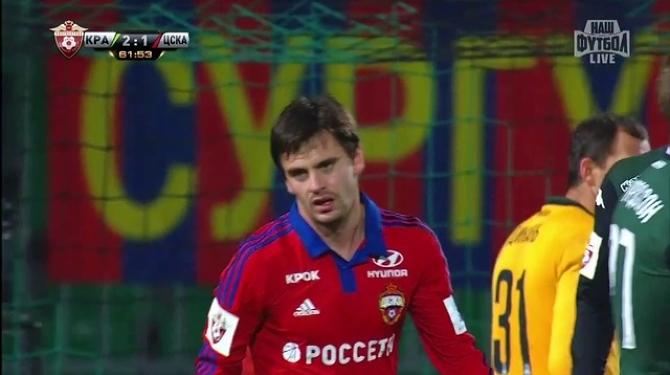 Краснодарская кубань выиграла у казанского рубина  со счетом 2:0 матч 16-го тура чемпионата россии по футболу